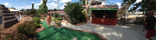 Panoramic view of the course.